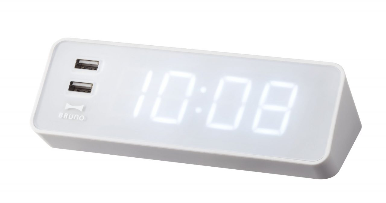 IDEA BRUNO LEDクロック with USB ホワイト