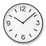 白黒はっきりした掛け時計「Lemnos MONO Clock」